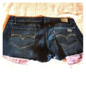 LEVI'S 🌹DESTROYED RIPPED JEAN SHORTY SHORTS 16/17